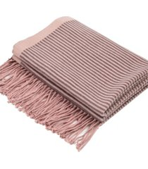 glitzhome women's striped reversible scarf with tassels