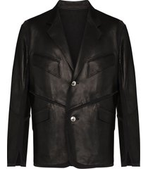 sulvam le jersey sheepskin jacket - black