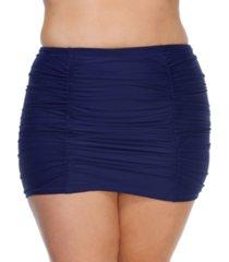 raisins curve trendy plus size juniors' solid costa swim skirt women's swimsuit