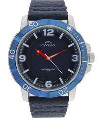 reloj azul montreal aro giratorio