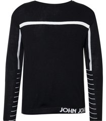 blusa john john tricot leandro preto masculina (preto, gg)
