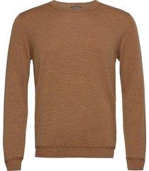 sweaters stickad tröja m. rund krage brun esprit collection