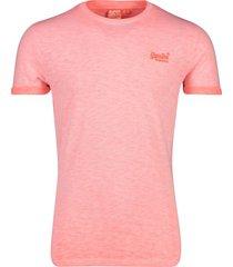 superdry t-shirt roze gemeleerd