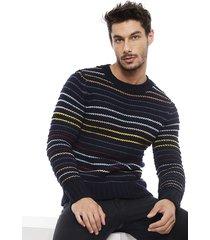 sweater desigual aaron azul - calce regular