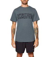 men's spiritual gangster logo graphic tee, size xx-large - green
