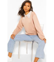 peter pan oversized sweatshirt, stone