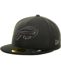 new era buffalo bills black gray 59fifty cap