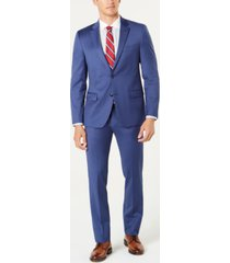 tommy hilfiger men's slim-fit th flex stretch wool suit