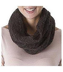 100% alpaca neck warmer, 'ivy temptation' (peru)