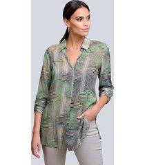 blouse alba moda kaki::groen::beige