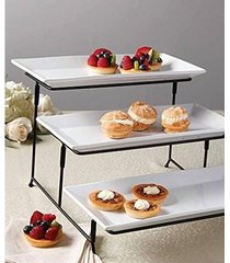 3 tier rectangular serving platter, three tiered cake tray stand, fast shipping!