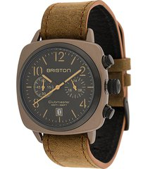 briston watches clubmaster classic 42mm watch - brown