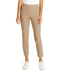 eileen fisher stretch crepe slim ankle pants, size petite p in driftwood at nordstrom