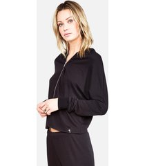 sullivan zip up hoodie - l black