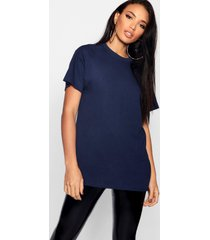 basic oversized boyfriend t-shirt, marineblauw