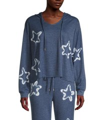 honeydew intimates women's star struck lounge hoodie - sandbar - size s
