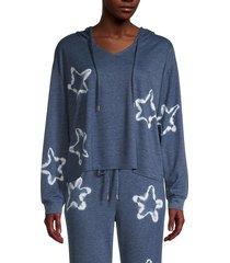 honeydew intimates women's star struck lounge hoodie - sandbar - size s