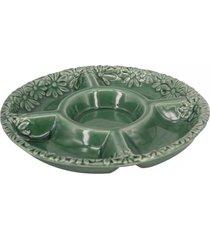 petisqueira de porcelana verde - incolor - dafiti