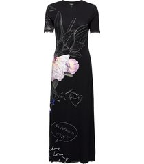vest flor maxi dress galajurk zwart desigual