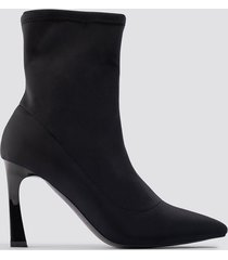na-kd shoes scuba sock boots - black