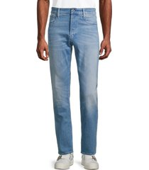 g-star raw men's 3301 straight stretch jeans - faded seaside - size 33 32