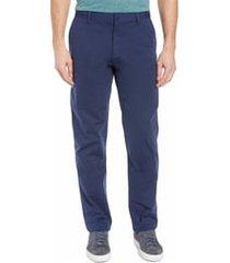 men's rhone commuter straight fit pants, size 40 - blue