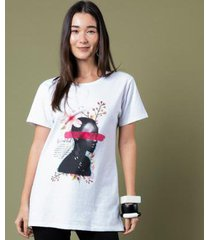 t-shirt mercatto alongada feminina - feminino