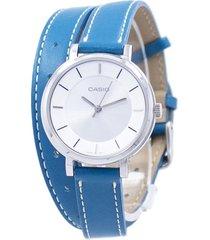 reloj análogo casio ltp-e143dbl3 azul