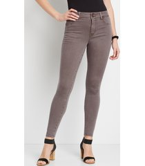 maurices womens high rise brown double button jegging made with repreve