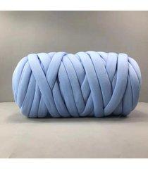 500g chunky hilado diy hace punto de punto manta suave línea gruesa de algodón banda de ganchillo - azul