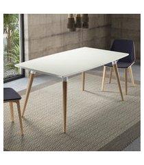 mesa de jantar retangular 4 lugares artesano valentinna 160cm branco