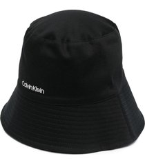 calvin klein oversized rev bucket hat - black