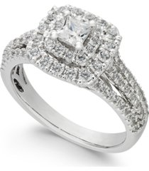 diamond princess cut engagement ring (1 ct. t.w.) in 14k white gold