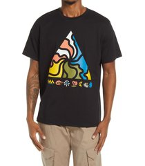 bp. men's pyramid graphic tee, size medium in black triangle at nordstrom