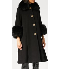 saks potts women's yvonne coat - black - 2/uk 10 - black