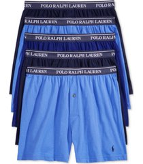 polo ralph lauren men's 5-pk. classic knit boxer briefs