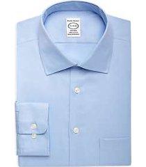pronto uomo blue queen's oxford non-iron dress shirt