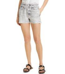 women's rag & bone miramar faux jeans knit shorts, size x-large - grey (nordstrom exclusive)