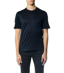z zegna round neck blue cotton t-shirt