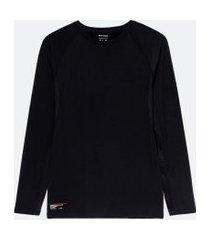 camiseta espotiva manga longa com compressão | get over | preto | m