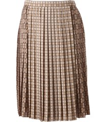 burberry pleated skirt