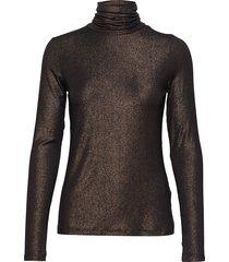 metallic soft stretch turtleneck t-shirt t-shirts & tops long-sleeved svart banana republic