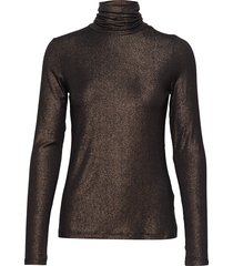 metallic soft stretch turtleneck t-shirt t-shirts & tops long-sleeved svart banana republic