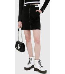 falda negro-blanco calvin klein