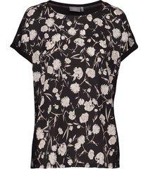 bypanya lace tshirt3 - t-shirts & tops short-sleeved svart b.young