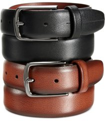 perry ellis portfolio men's park avenue leather belt