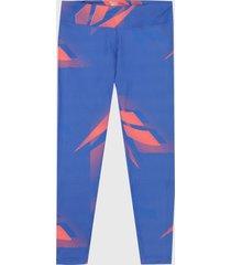 leggings azul-salmón reebok printed myt