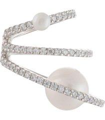 apm monaco magique three-hoop sliding earcuff - silver