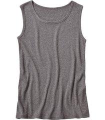 t-shirt zonder mouwen, antraciet-gemêleerd s