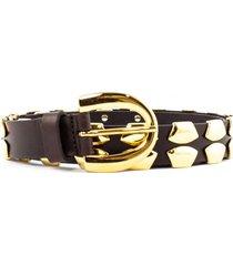 alberta ferretti belt in dark brown leather